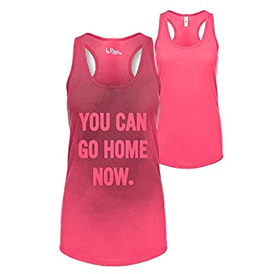 You Can Go Home Now Hidden Message Gym Gift Tank Top Funny Workout Shirt Available Plus Size Small Pink