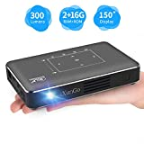Portable Pico Projector, iXunGo Mini Pocket Smart Mobile Phone DLP Android Video Projector