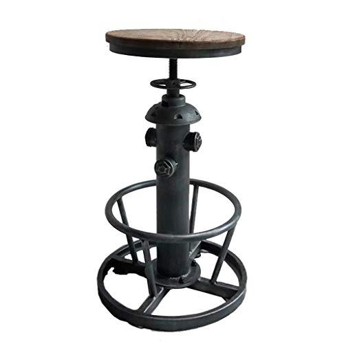 Xingqianru Loft Windlift Bar Stuhl Freizeit-Ecke Schreibtischstuhl Creative Industrial Wind Fire Hydrant Runden Tisch Und Stuhl (40 * 40 * 58Cm),Blacksandpattern