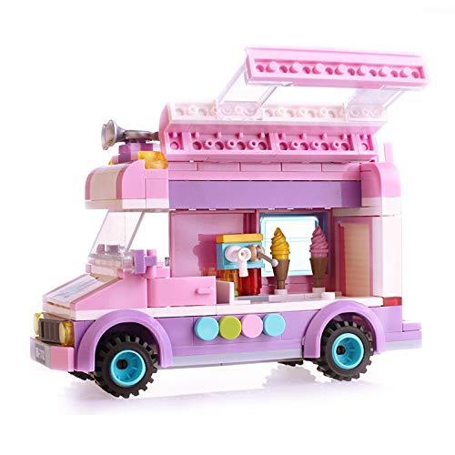 Bloques de construcción Iluminar 213 Piezas City Ice Cream Truck Modelo De Coche Bloques De Construcción Conjuntos Amigos Diy Creador Ladrillos Juguetes Educativos Para Niños