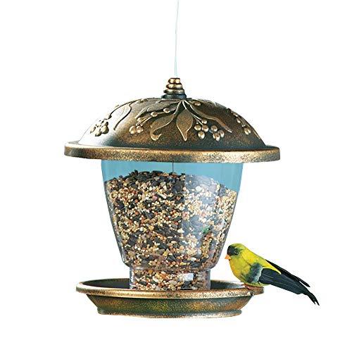 YQY Vogelfutterspender, Vogelfutterstation Heavy Duty Haus, Pflanzensamen Nuss Feeder, Hängen für Garten-Yard-Dekoration