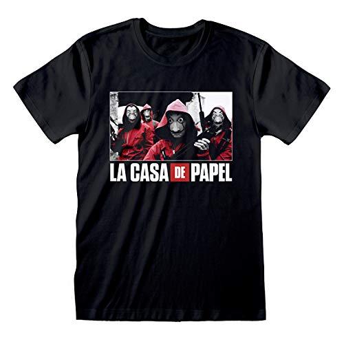 La Casa De Papel Money Heist Group Photo Novio Ajuste De La Camiseta De Las Mujeres Negro M