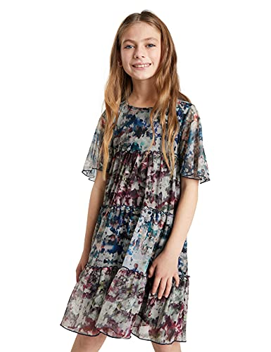 Desigual Vest_ACROITA Vestido Casual, Negro, 7-8 Años para Niñas