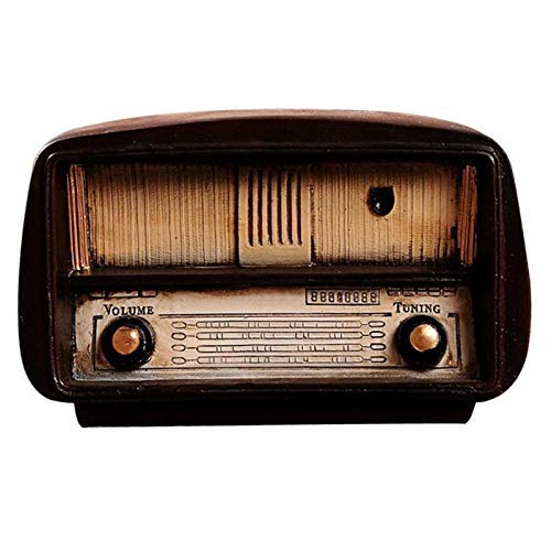 Resina Hogar Creativo Decorativo Retro Sala de Estar Decoraciones de Café/Gramófono Molino de Viento Modelo de Radio