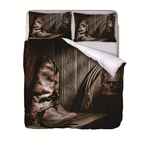 QIHANGYA Bettwäsche Jeansschuhe 200x200cm Bettbezug mit Muster, Super Weiche Atmungsaktive Mikrofaser Bettbezug 1-teilig mit Reißverschluss 2 Kissenbezug