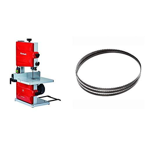 Einhell TC-SB 200/1 Sierra de Cinta (potencia de 250 W, ralentí 1.400 1, velocidad de Hoja 900 m/min, 6 dientes) (ref. 4308018) & 4506156 - Hoja de sierra de cinta para madera (1400 x 7 mm, 6t/25 mm)