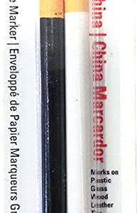 General Pencil 1240ABP China Marker Multi Purpose Grease Pencil, Black/White, 2-Pack