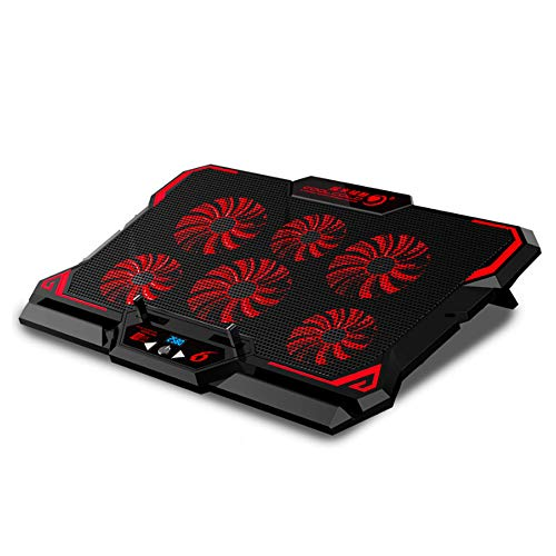 CPDZ Laptop-Kühler Doppel USB Notebookständer High-Speed-Mute Lüfter Cooling Pad kompatibel mit Mainstream-Notebooks unter 17