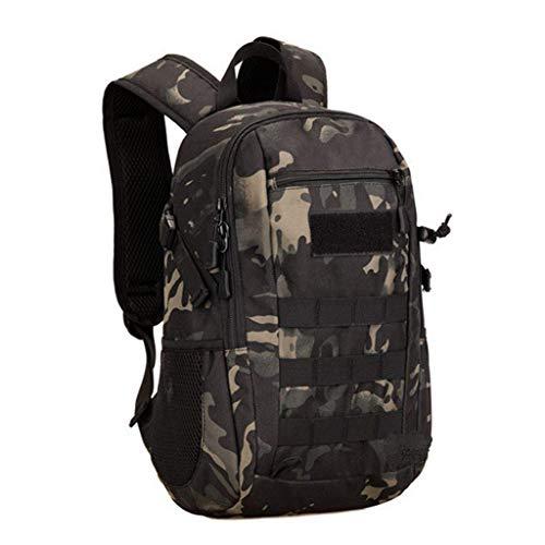 Huntvp 10L Mini Daypack Military MOLLE Backpack Rucksack Gear Tactical Assault Pack Bag for Hunting Camping Trekking Travel (10L-Camo)