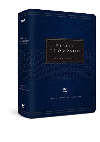 Biblia Thompson Aec Letra Grande - Cp Azul e Preta