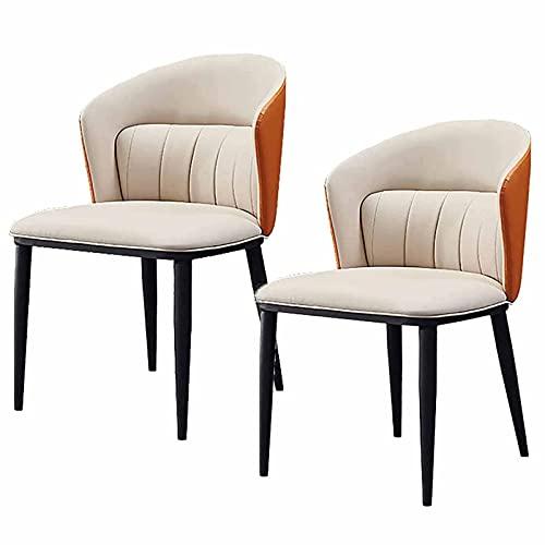 VERDELZ De Comedor de Cuero para el Ocio, 2 sofás cómodos sillones Individuales | Sillón de Sala de Estar para Lectura de Dormitorio Sillón Club con Respaldo Alto y Patas de Madera