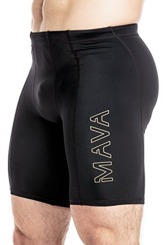 MAVA Sports Men's Compression Short - Active Athletic Baselayer for Running, Training and Gym Workout - Helps with Injury Recovery and Prevention, Muscle Cramps & Pain Relief