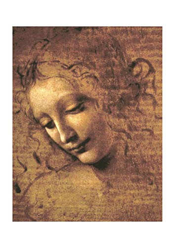Spiffing Prints Leonardo da Vinci - Female Head La Scapigliata 1508 - Small - Archival Matte - Framed