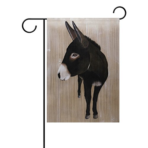 LIANCHENYI Cool Animal Sad Esel doppelseitig Familie Flagge Polyester Outdoor Flagge Home Party Decro Garten Flagge 30,5x 45,7cm