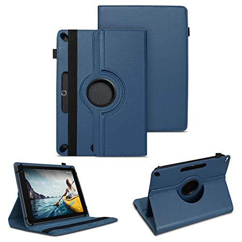 NAUC Tablet Tasche für Medion Lifetab P10710 P10610 P10603 P10606 P10602 P9702 Hülle Schutzhülle Universal Kunstleder Standfunktion 360 Drehbar, Farben:Blau