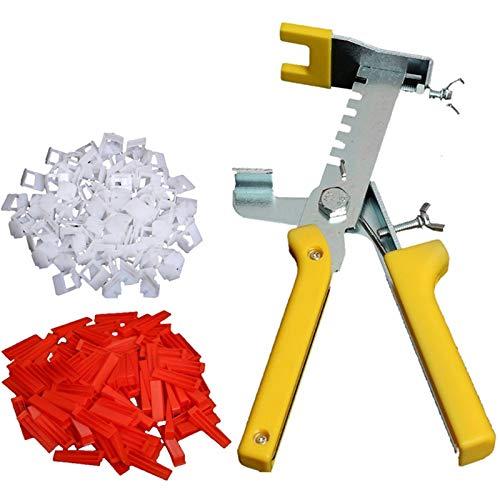 ZPFQFC Fliesen-Nivelliersystem-Kit, 200 Fliesenabstandshalter, 100 Wiederverwendbare Keile, 1 Fliesenzange, für Bodenniveau, Fliesenkits, Wandfliesen-Level-Tools
