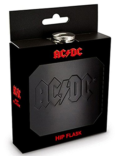 AC/DC Flachmann Black Logo Hip Flask