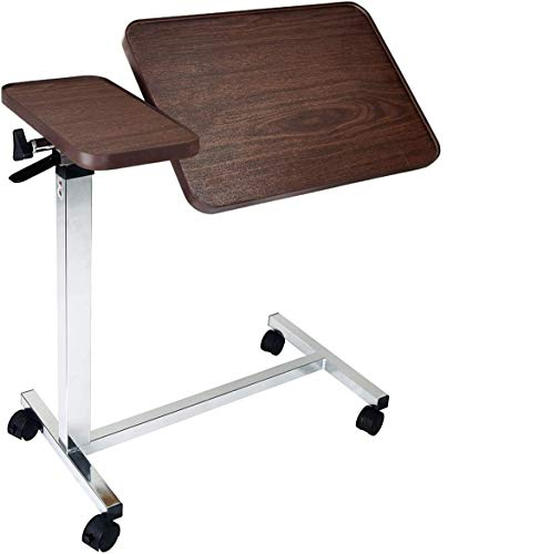 Vaunn Medical Deluxe Tiltable Overbed Bedside Table