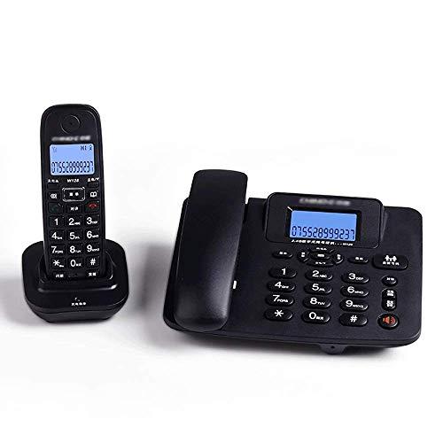 Teléfono Teléfono inalámbrico de teléfono fijo con cable de antigüedades con pantalla fija con pantalla LCD, contestador automático, oficina de negocios en casa, teléfono inalámbrico teléfono fijo de