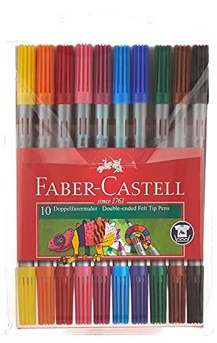 Faber-Castell 151110 - Doppelfasermaler, 10er Etui, 1 Stück