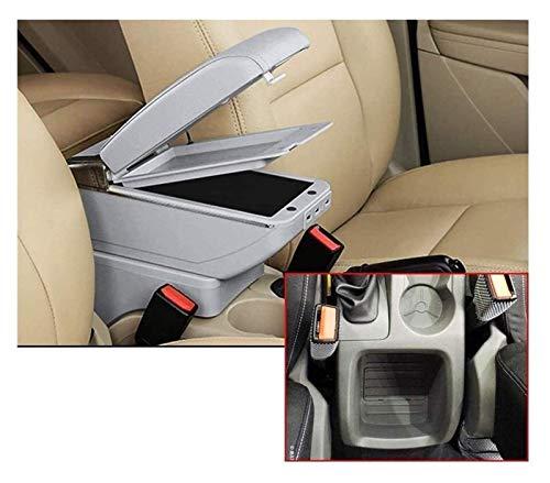 BNMKL Reposabrazos De Coche Universal De Doble Capa con 7 Puertos USB para Focus 2 MK2 2009 2010 2011 2012 Consola Central, Función De Carga Reposabrazos De Coche