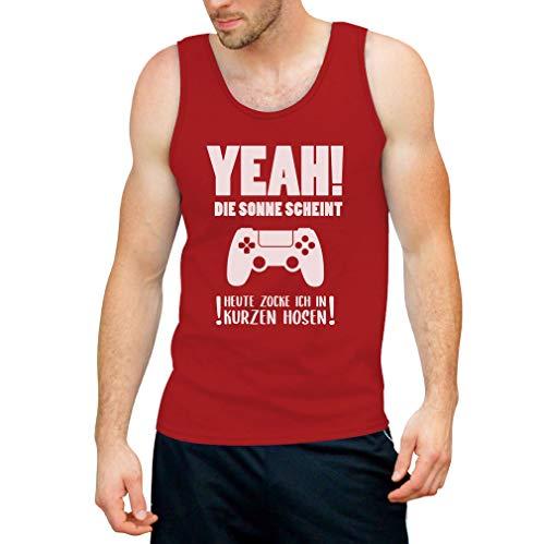 Shirtgeil Gamercadeau - Vandaag vok ik in korte broeken mannen tank top