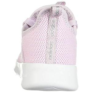 adidas Unisex-Child Cloudfoam Pure Running Shoe, Aero Pink/Silver Metallic/White, 4