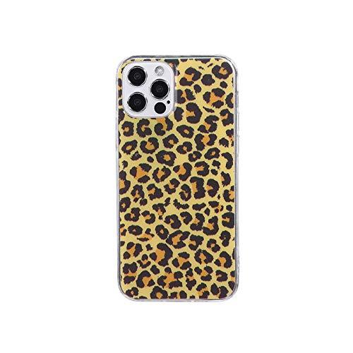 Funda para iPhone 12 11 Pro Max XR XS Max X 8 7 6S Plus con estampado de leopardo, suave y transparente, para iPhone XR