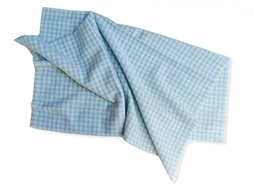 Schulz - Baby-Decke hellblau- feinste, weiche andalusische Merinowolle - 125x75cm