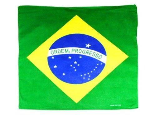 Braziliaanse bandana (Alsino ba-07) Braziliaanse unisex heren dames meisjes jongens hoogwaardig 100% katoen ca. 54 x 54 cm Zandana sjaal accessoires kleding vakantie zomer