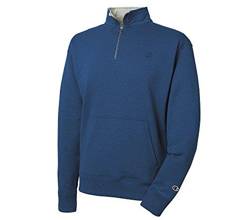 Champion Herren Powerblend Quarter-Zip Fleece Jacke -  Blau -  X-Large