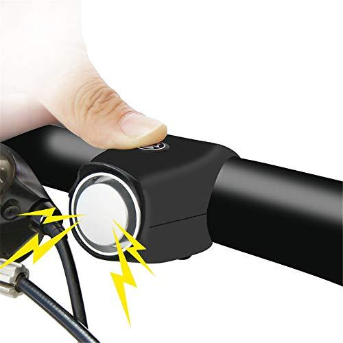 Timbre de Bicicleta Timbre y Anillo de Ciclismo Negro Adecuado para Ciclismo al Aire Libre Uso para Sonido Seguro Accesorios de Bell de Bicicleta (Color : Purple)