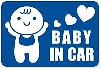 imoninn BABY in car ステッカー 【マグネットタイプ】 No.10 赤ちゃん (青色)