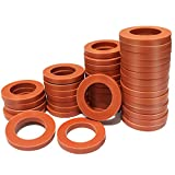 Garden Hose Washers Rubber Washers Seals 40 Pieces Red Garden Hose Gasket Fitting for Standard 3/4' Garden Hose and Water Faucet Quick Connect Hose Fittings