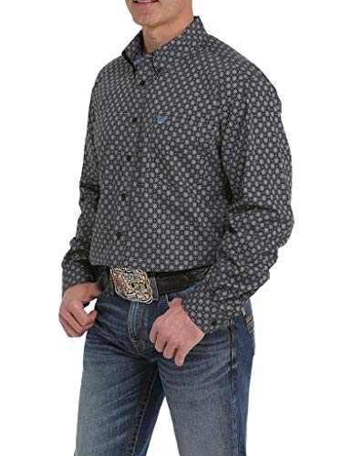 Cinch Men's Classic Fit Shirt, Tornado, L
