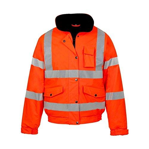 Kapton Hochsichtbare Bomberjacke, Arbeitsjacke, Sicherheitsjacke, wasserdicht Gr. Medium, Orange
