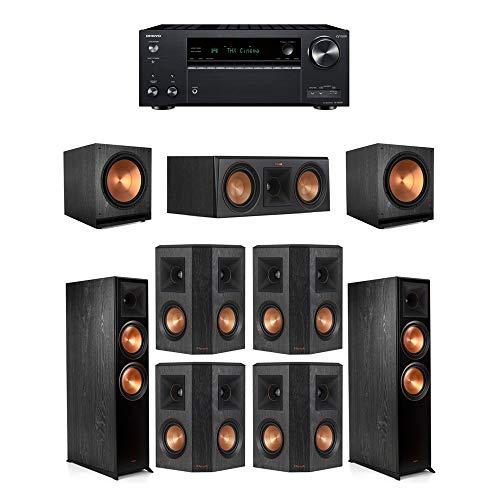 New Klipsch7.2.2 Ebony System - 2 RP-8060FA,1 RP-500C,4 RP-402S,2 SPL-150,1 TX-NR797 Receiver