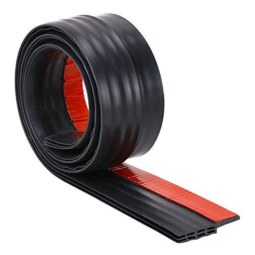 SUNMON Silicone Door Draft Stopper – 39 inches Door Seal Strip for Under Door Seal Gap Interior & Exterior Doors Weather Stripping Soundproof (Black)