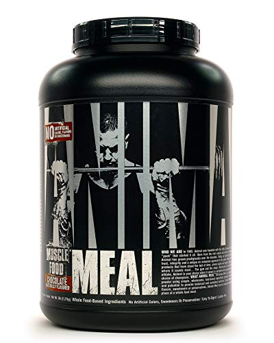 Animal Meal - All Natural High Calorie Meal Shake - Egg Whites, Beef Protein, Pea Protein, Mocha Cappuccino, 5 Pound