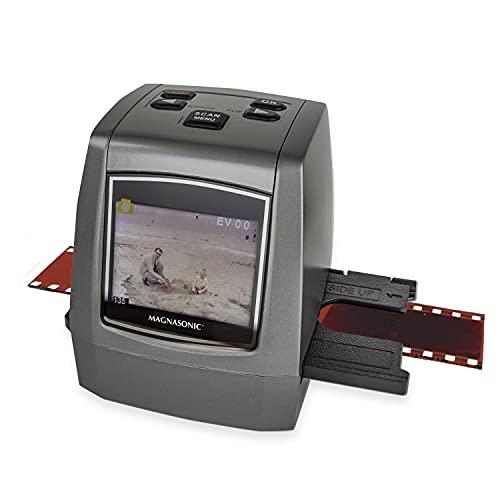Magnasonic All-in-One High Resolution 22MP Film Scanner, Converts 35mm/126KPK/110/Super 8 Films, Slides, Negatives into Digital Photos, Vibrant 2.4' LCD Screen, Impressive 128MB Built-in Memory