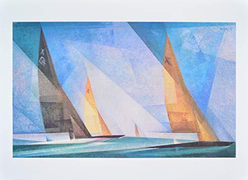 Lyonel Feininger Poster Kunstdruck Bild Segelboote Segeln 70x50 cm