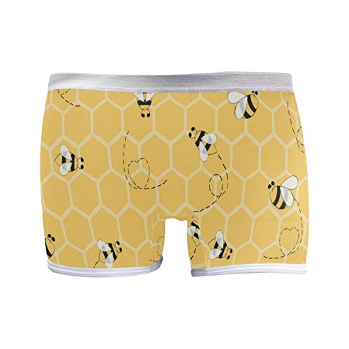 PUXUQU Damen Boxershorts Panties Süß Karikatur Biene Unterwäsche Unterhosen Pants