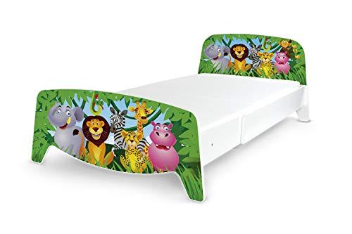 Leomark Holzbett ausziehbar für Kinder - Sophia - Verstellbares Bett (3 Größen),...