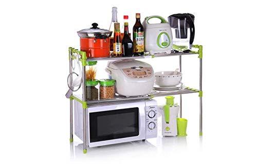 Egab Adjustable Multipurpose Microwave Oven Stand Stainless Steel Rack