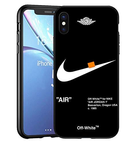 AJ Force 1 x O-W iPhone XS Max Custodia, Slim Anti Scivolo Custodia Protezione Posteriore Cover Antiurto per iPhone XS Max