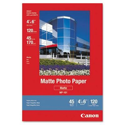 Canon - 2 Pack - Matte Photo Paper 4 X 6 45 Lb. White 120 Sheets/Pack