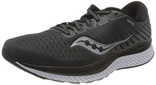 Saucony Men's S20548-40 Guide 13 Running Shoe, Black/White - 11.5 M US