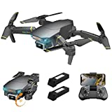 FPV WiFi Drone with 4K Adjustable Camera Live Video 120° Wide-Angle 6-Axis Gyro Foldable RC Quadcopter for Beginners with Altitude Hold,Obstacle Avoidance,Gesture/APP Control,Trajectory Flight