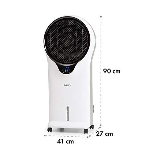 Klarstein Whirlwind - 3-in-1 - Luftkühler, 3-in-1: Luftkühler/Ventilator/Luftbefeuchter, Luftumwälzung: 1600 m³/h, Wassertank: 5,5 Liter, Oszillation, 3 Geschwindigkeiten, Fernbedienung, weiß