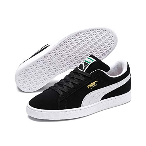 PUMA Suede Classic Sneaker,Black/White,10 M US Men's